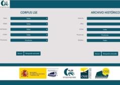 Captura de pantalla de la web de CORLSE