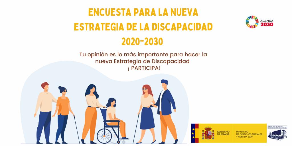 El gobierno impulsa la participaci�n ciudadana a trav�s de una encuesta que permita a los ciudadanos participar en la  elaboraci�n de la Estrategia sobre Discapacidad 2022-2030. Participa a trav�s del enlace https://bit.ly/3xEC2PE