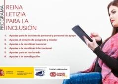 Cartel del Programa Reina Letizia para la Inclusion