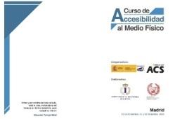 Cartel del curso de accesibilidad al medio fisico