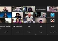 Captura de pantalla del encuentro, con el DG Jesus Martin Blanco