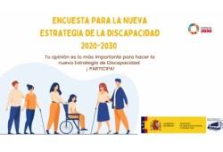 Cartel de la encuesta para la nueva estrategia de la discapacidad