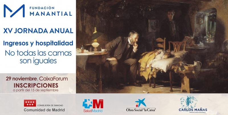 Banner XV Jornada Anual 'Ingresos y hospitalidad: no todas las camas son iguales'.