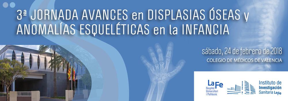 Cartel III Jornada de Avances en Displasias Óseas y Anomalías Esqueléticas en la Infancia
