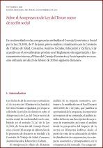 Dictamen sobre el Anteproyecto de Ley del Tercer sector social