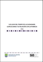 Los usos del tiempo de la ciudadanía guipuzcoana y su relación con la pobreza