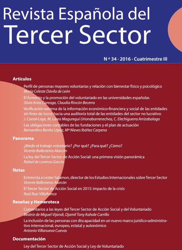 La Ley del Tercer Sector de Acción Social: una primera visión panorámica