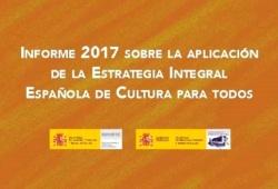 Portada del Informe 2017 de cultura para todos