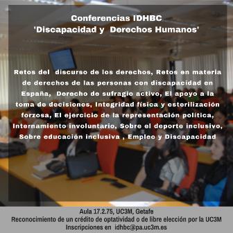 Conferencias IDHBC sobre discapacidad y derechos humanos
