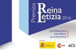 Cartel Premios Reina Letizia 20165 de Accesibilidad Universal de Municipios