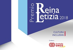 Cartel Premio Reina Letizia Cultura Inclusiva 2018