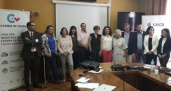 Foto de familia de la reunión de 'Cadena de Valor'