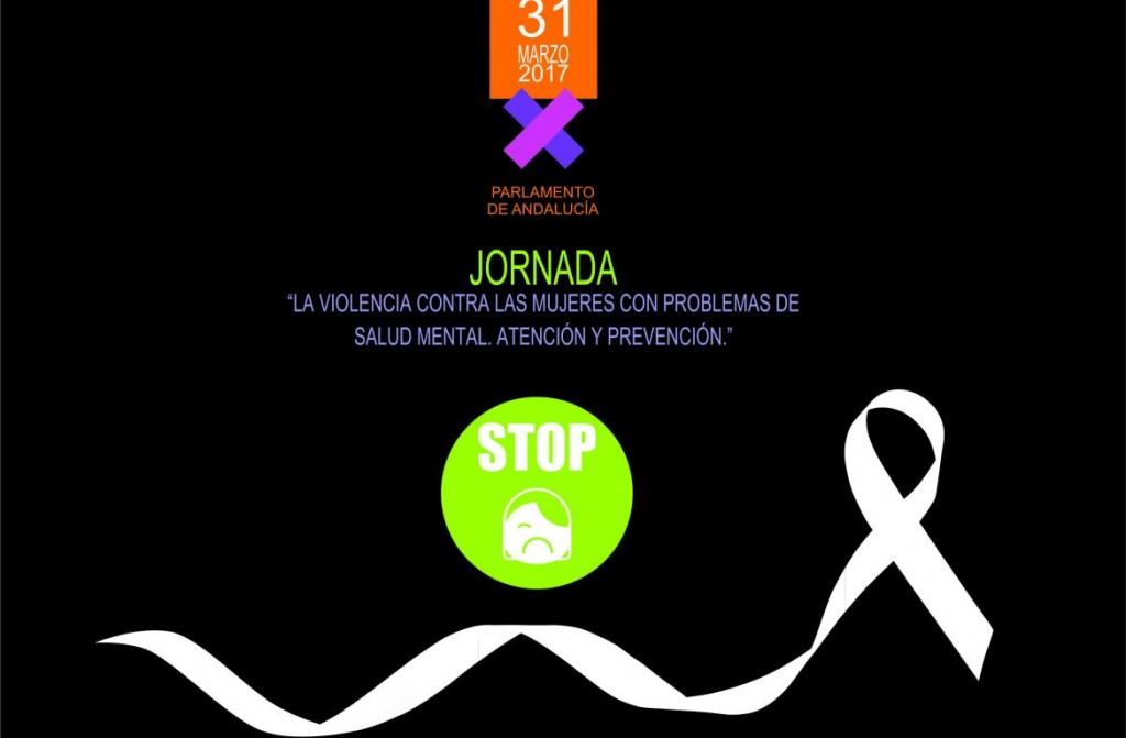 Cartel Jornada La violencia contra las mujeres con problemas de salud mental
