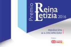 Cartel Premio Reina Letizia 2016 de Prevención de la Discapacidad