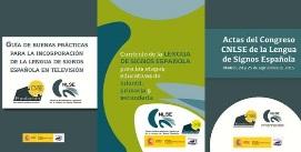 Logotipos de las publicaciones del CNLSE editadas por el Real Patronato