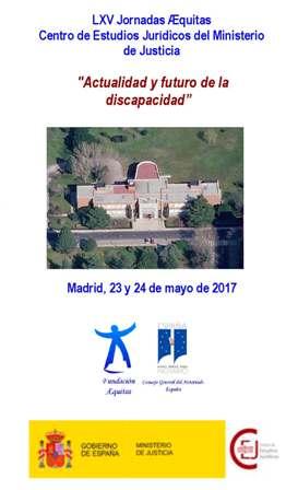 Cartel LXV Jornadas Æquitas Actualidad y futuro de la discapacidad