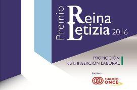 Cartel Premio Reina Letizia 2016 de Promoción de la Inserción Laboral