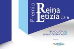Cartel Premio Reina Letizia de Tecnologías de la Accesiblidad