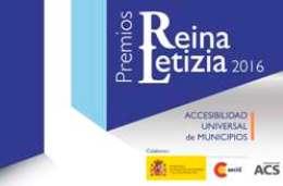 Cartel de los Premios Reina Letizia 2016 de Accesibilidad Universal de Municipios