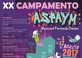 Cartel del XX Campamento Aspaym