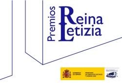 Cartel de los Premios Reina Letizia con nombre de los premios y logotipo del Real Patronato sobre Discapacidad