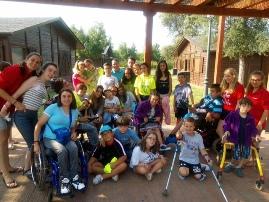 Foto de familia XIX Campamento ASPAYM