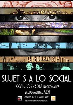Cartel XXVII Jornadas AEN: Sujet_s a lo social