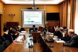 Fotografía de la reunión de su Consejo Rector del CESyA