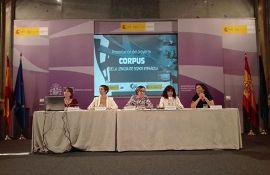 Foto de la mesa de presentación del proyecto de corpus de la lengua de signos española