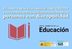 Cartel del estudio sobre COVID19 y discapacidad en la educacion