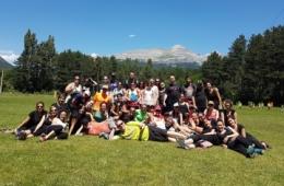 Imagen del encuentro de jóvenes sordociegos en Sabiñánigo (Huesca)