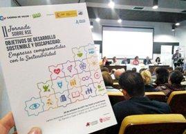 Fotografía de la Jornada sobre RSE ?Objetivos de Desarrollo Sostenible y Discapacidad. Empresas comprometidas con la sostenibilidad?