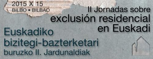 JORNADAS SOBRE EXCLUSIÓN SOCIAL DE EUSKADI
