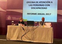 Foto de Carcedo y Celada durante la presentación del informe