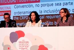 Foto de la mesa de clausura del III Congreso Internacional 'Universidad y Discapacidad'