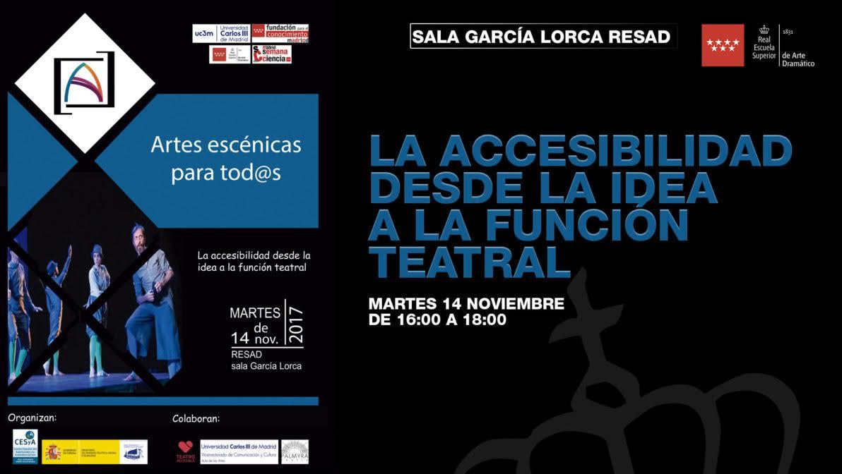 Cartel del taller 'La accesibilidad desde la idea de la función teatral'