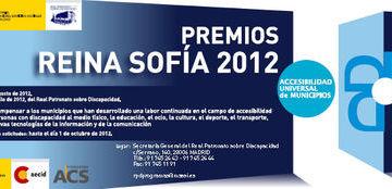 Cartel de los Premios Reina Sofía 2012 de Accesibilidad Universal de Municipios