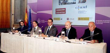 Foto de la presentación del II estudio 'Universidad y discapacidad'