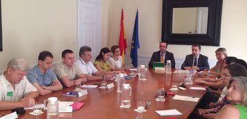 Foto de la delegación del Gobierno de Ucrania