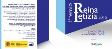 Cartel del Premio Reina Letizia 2015 de Tecnologías de la Accesibilidad