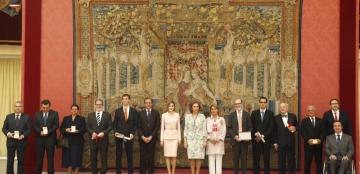 Foto de familia de la entrega de los Premios Reina Sofía 2014