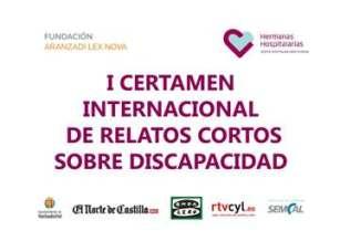 Cartel del I Certamen Internacional de relatos cortos sobre discapacidad