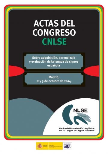 Portada de las Actas del Congreso CNLSE 2014 CEDD