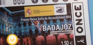 Cupón de la ONCE dedicado a badajoz, Premio Reina Sofía 2014