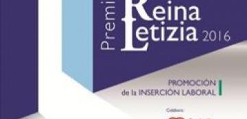 Cartel del Premio Reina Letizia 2016 de promoción de la inserción laboral