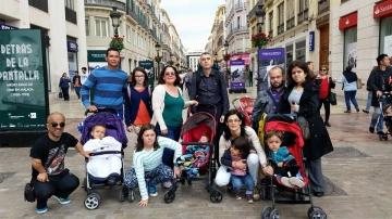 Foto de familias de afectados por acondroplasia