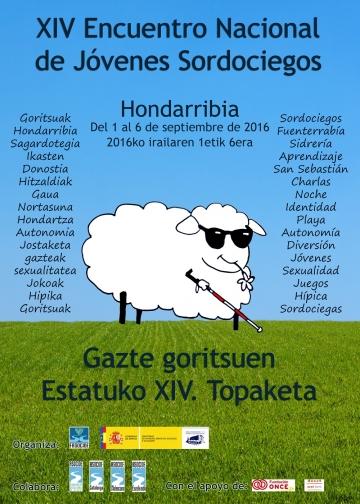 Cartel del XIV Encuentro Nacional de Jóvenes Sordociegos de España