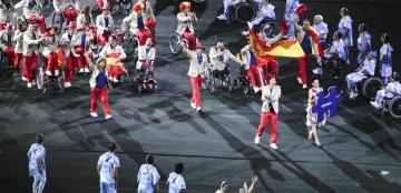 Fotografía del equipo paralímpico en la inauguración de los Juegos Paralímpicos de Río 2016