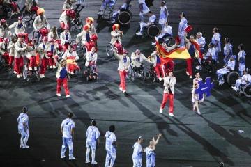 Fotografía del equipo paralímpico en la inauguración de los Juegos de Río 2016