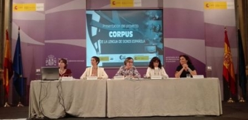 Foto de familia de la presentación del proyecto de corpus de la lengua de signos española